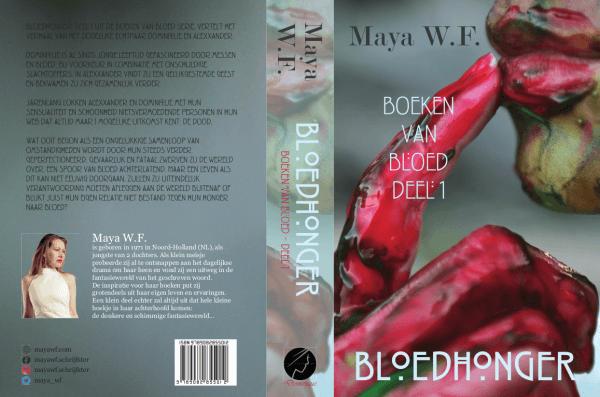 Bloedhonger omslag - Maya WF - Boeken van Bloed